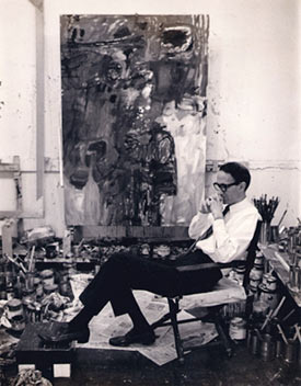 Sella in his studio